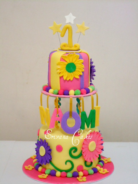 Hot electric colors Cake (B048)