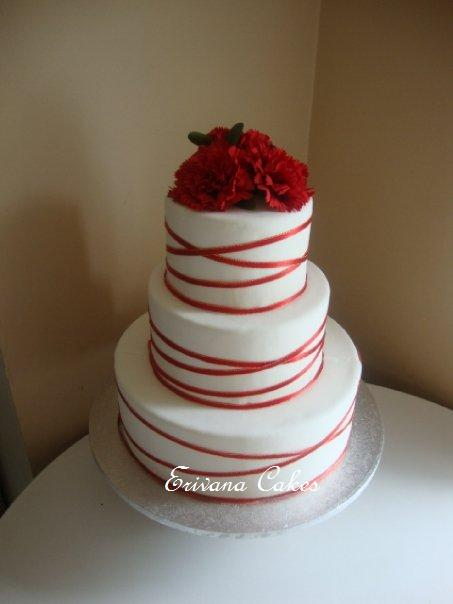 Wedding cake in red white red wedding cake swenshomemadecake pin red anniversary cake round wedding cakes on junglespirit Image collections