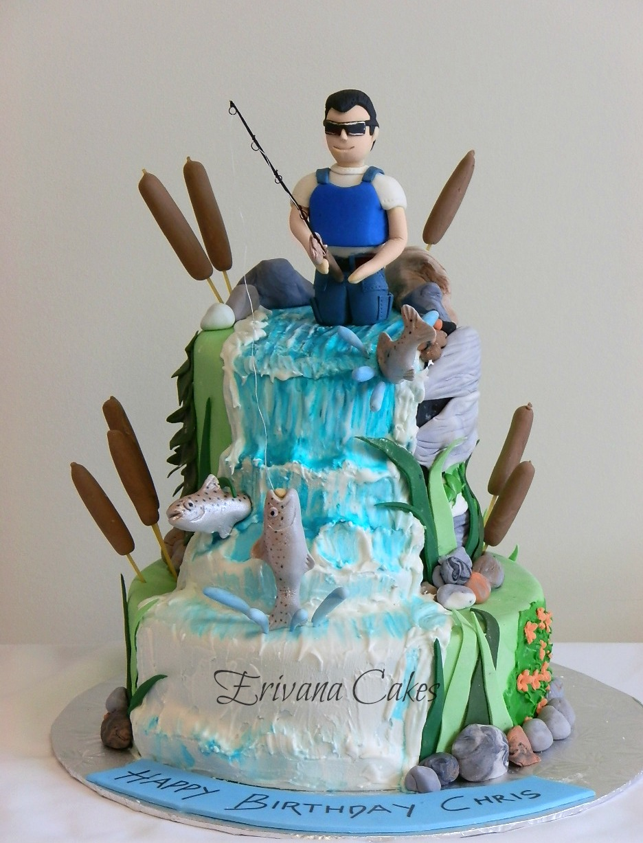 Salmon fishing cake