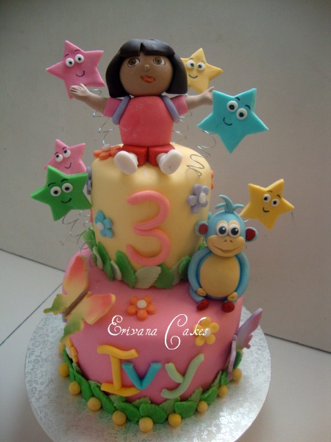Dora The Explorer and boots Cake 3 (B023)