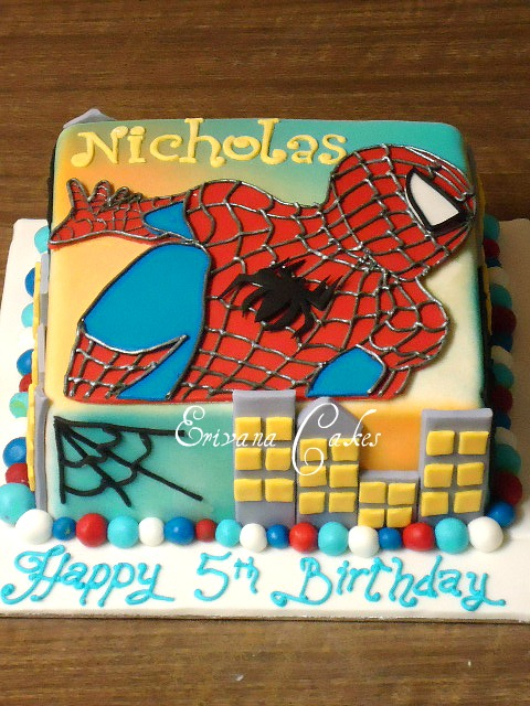 Spiderman Cake  3 (B400)