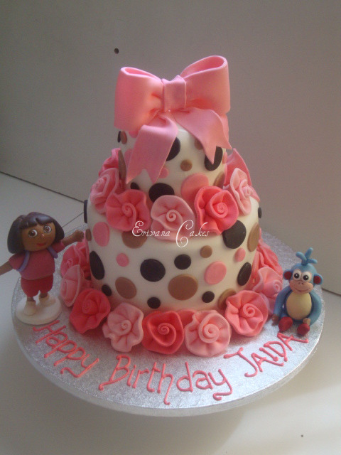 Dora The Explorer and boots cake 4  (B024)