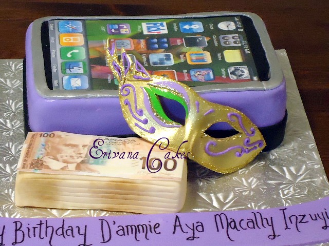iPhone, Stacks of money and mask cake(SP134)
