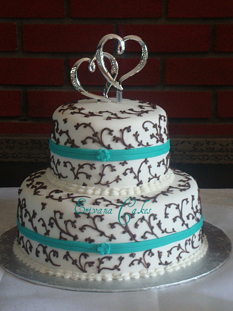 Turquoise Wedding Cakes Photos