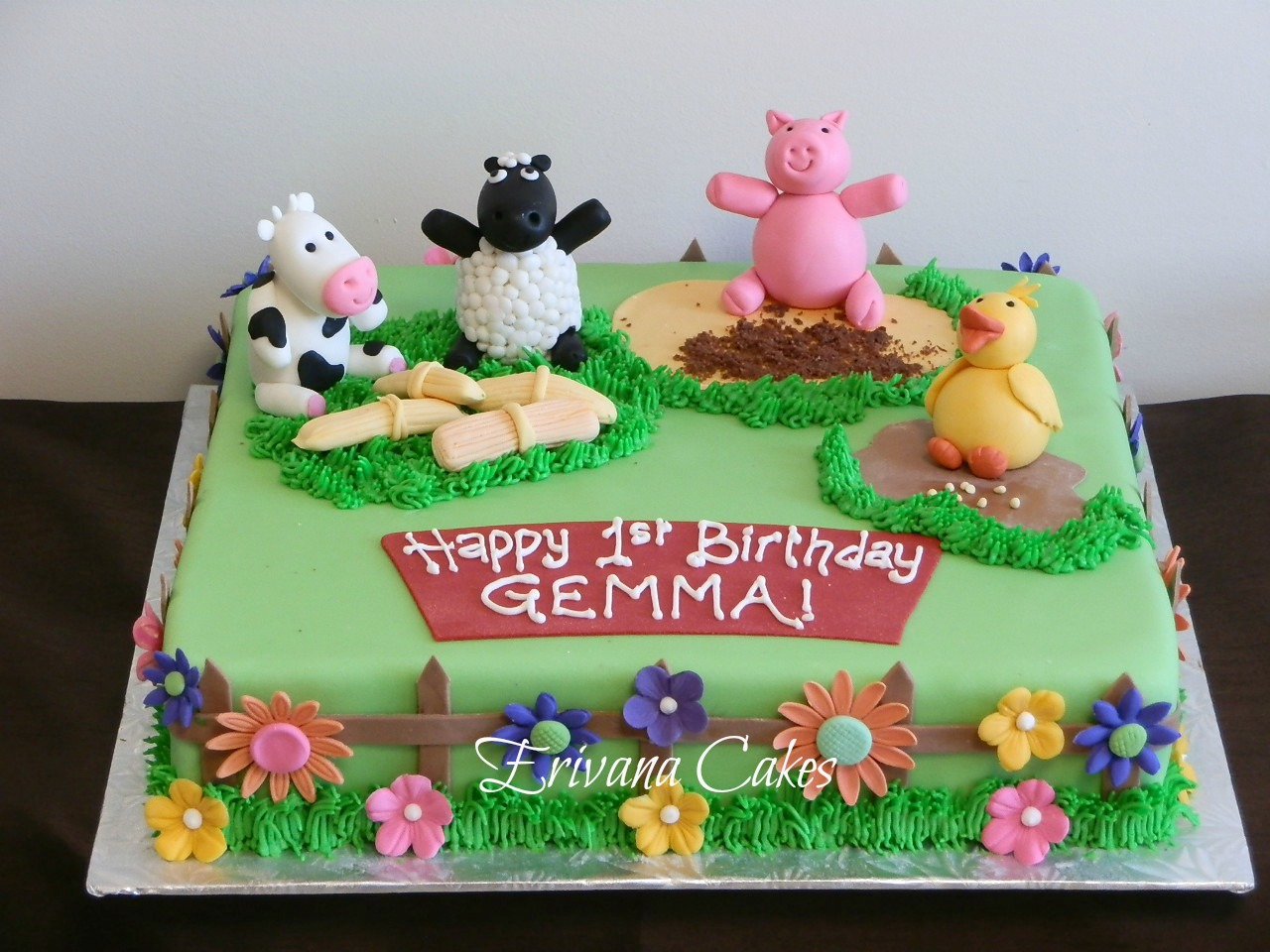Farm animals Cake2