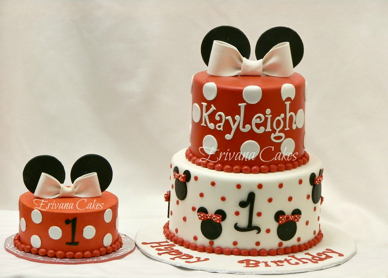 Minnie Mouse Cake and smash cake 1