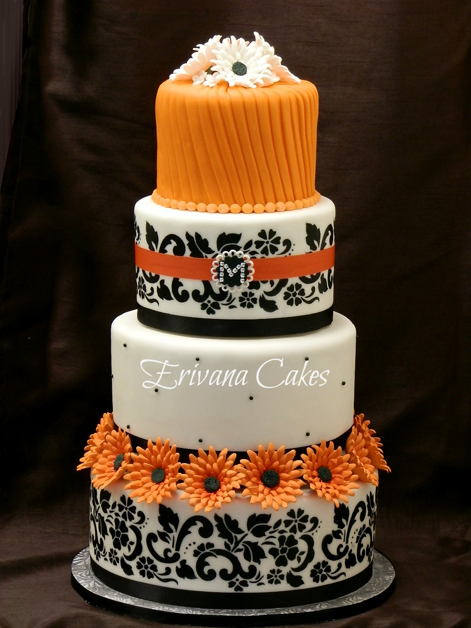 orange and white wedding cakes photo gallery erivana cakes 18042