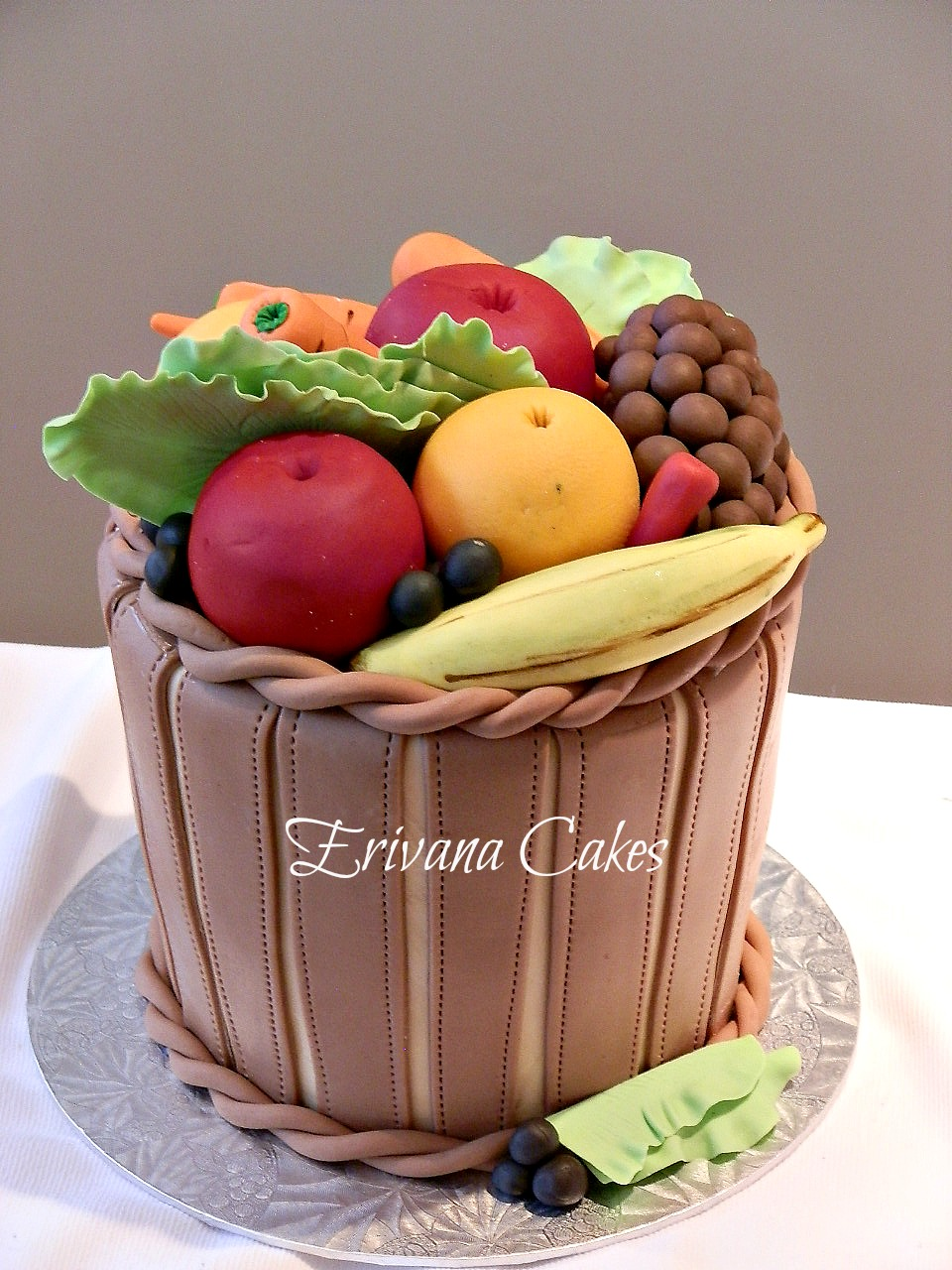 how to make a fruit basket cake