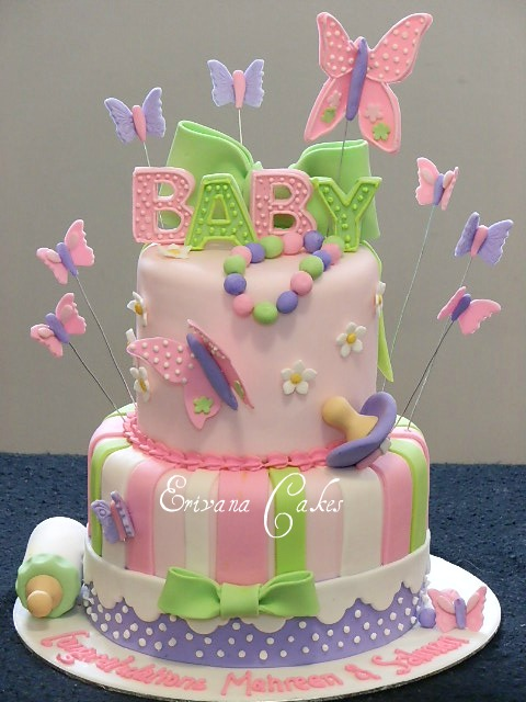 Baby Shower Cakes Cake Ideas With Butterflies