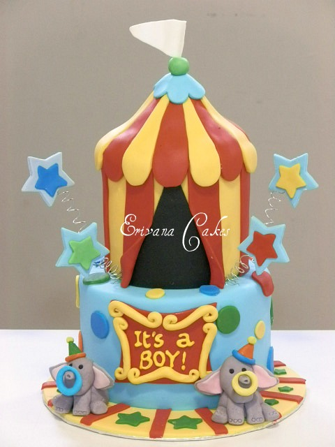 Circus themed baby shower cake 28