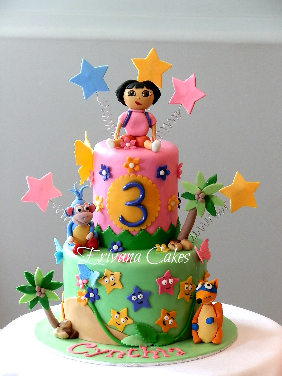 Dora The Explorer , boots and swiper Cake 7