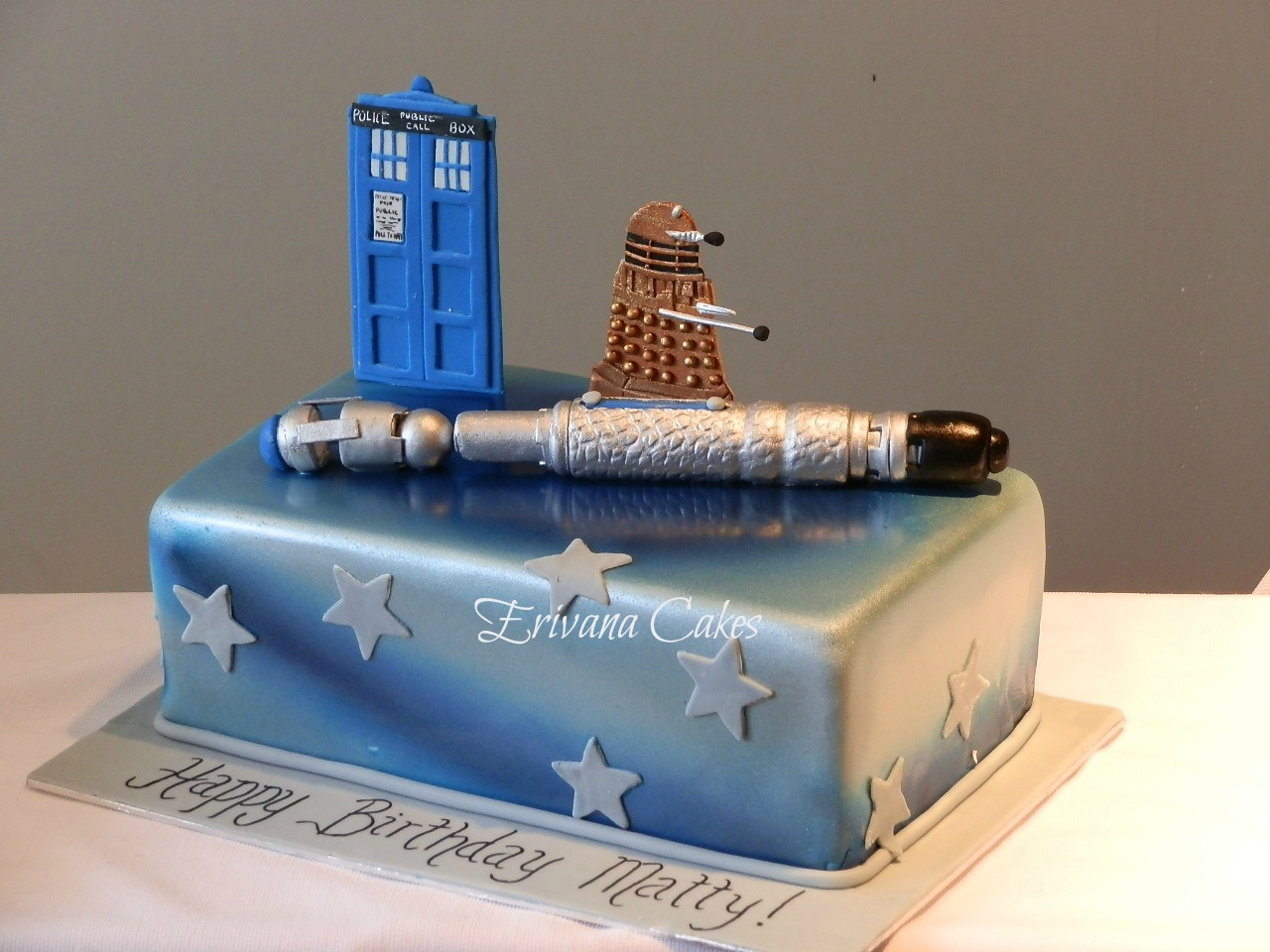 Pin Dr Who Screwdriver Cake Police Box And Dalek Cake on Pinterest