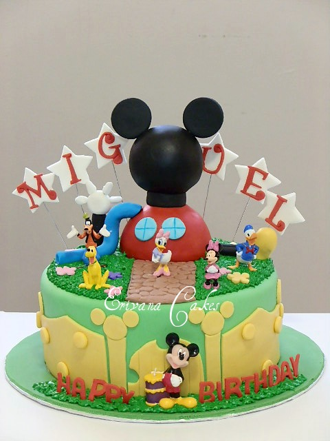 Mickey mouse clubhouse cake 1