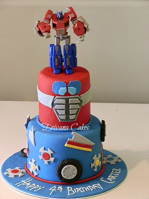 Optimus Prime Fondant Cake Topper