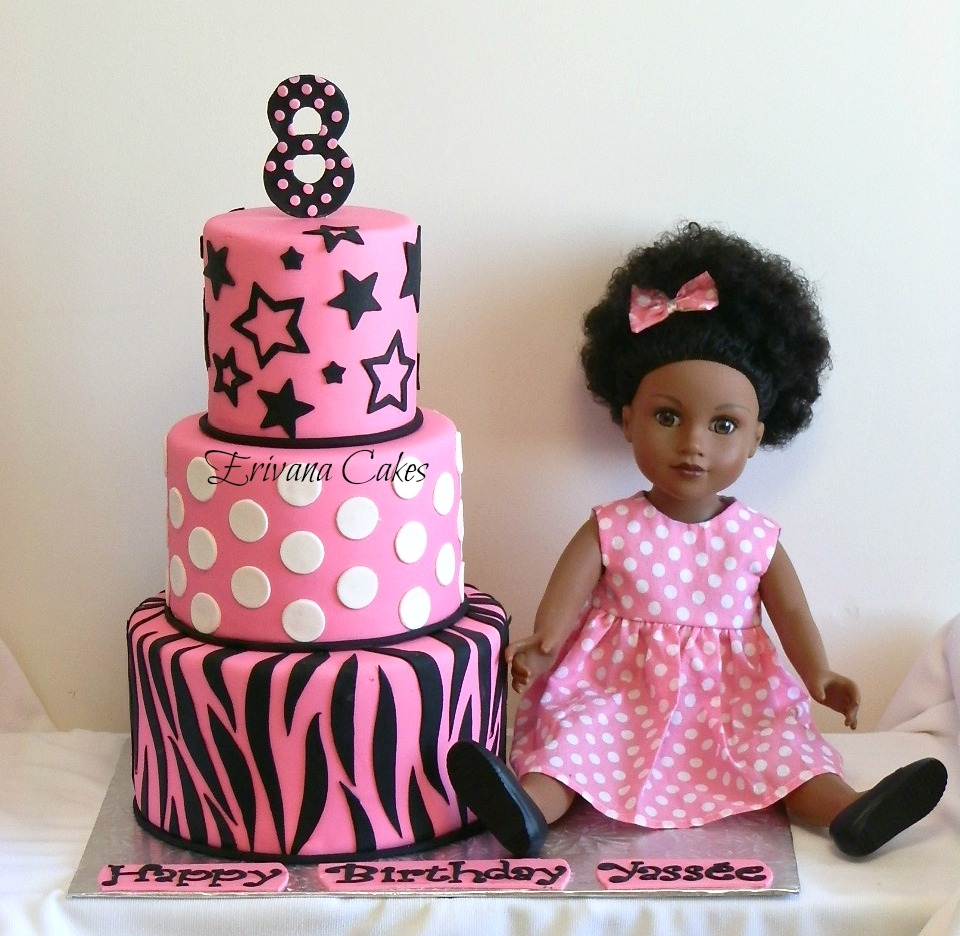American Girl Themed Birthday Cakes