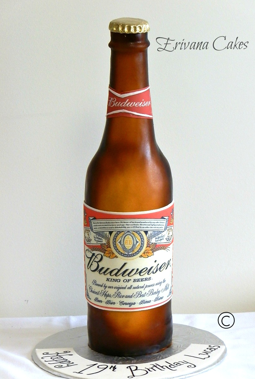 Budweiser Bottle Cake