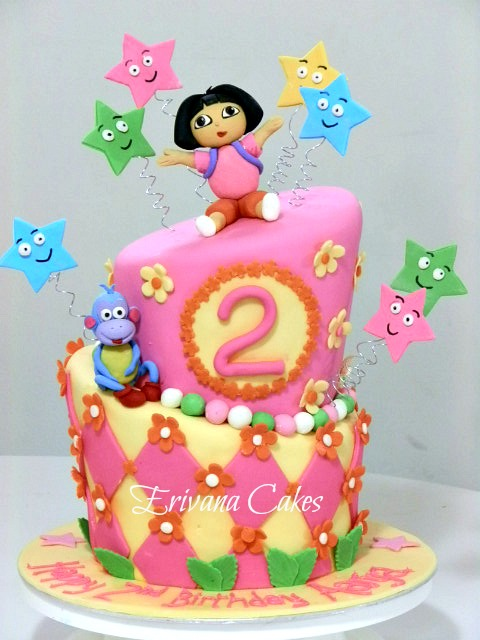 Dora the explorer and boots cake 2 (b022)