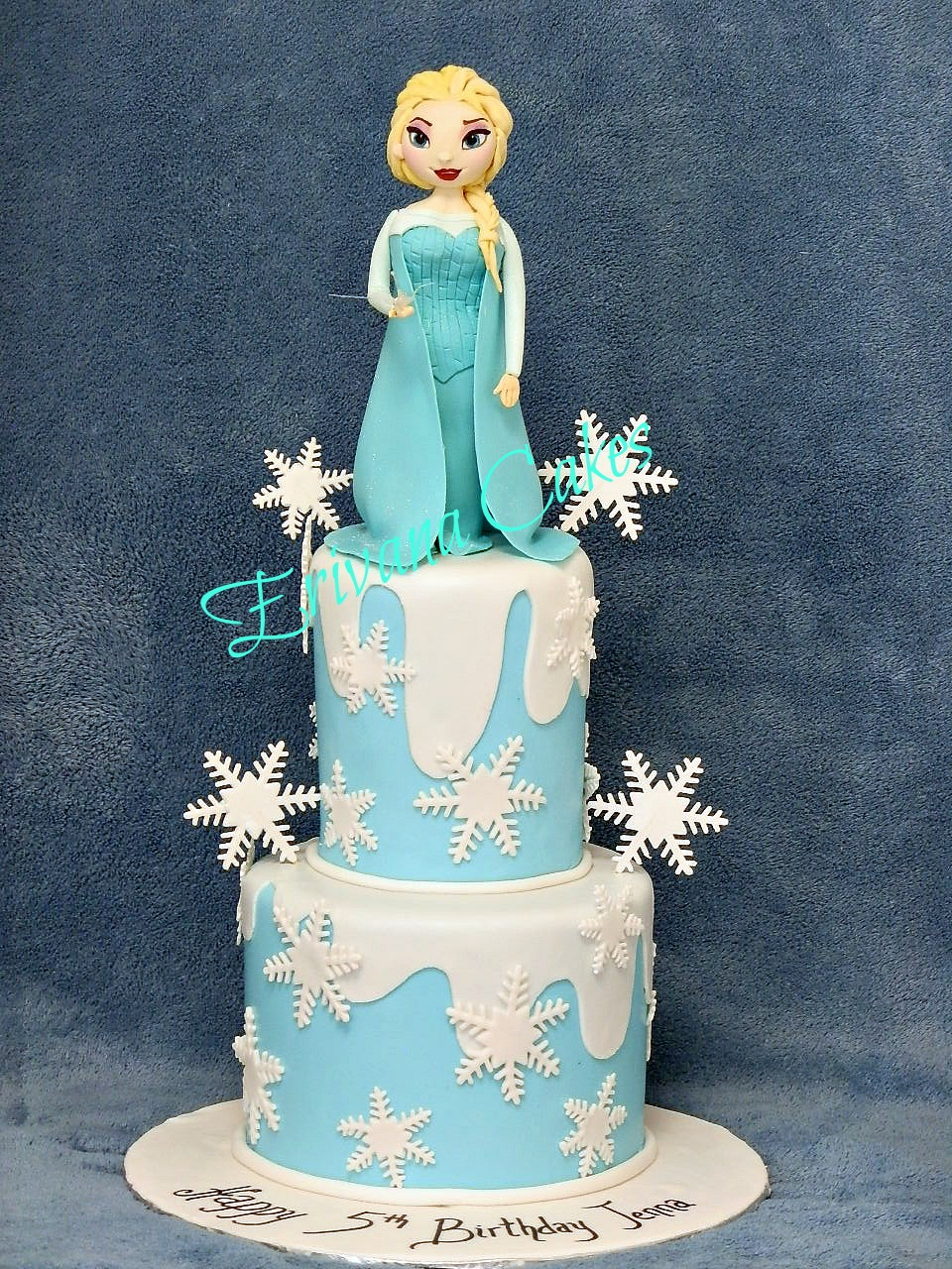 Frozen themed cake 2