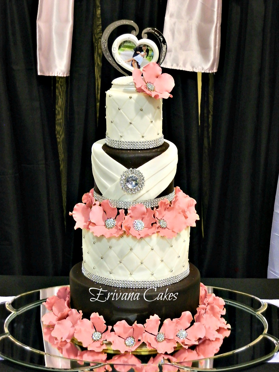 wedding cakes black white and pink photo gallery erivana cakes 23902