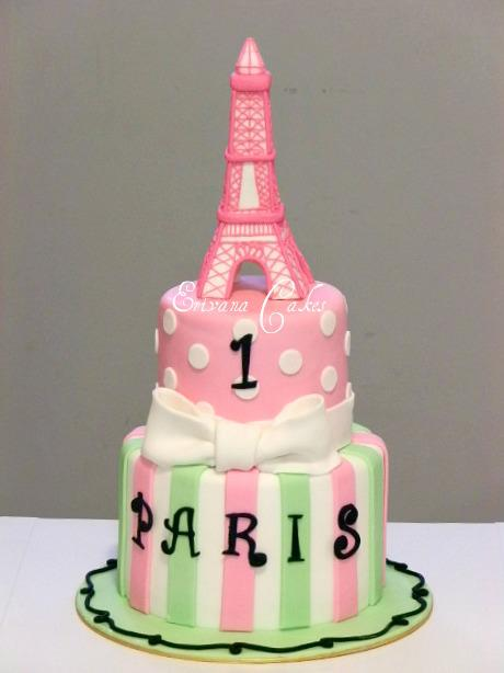 Poodle in Paris Cake