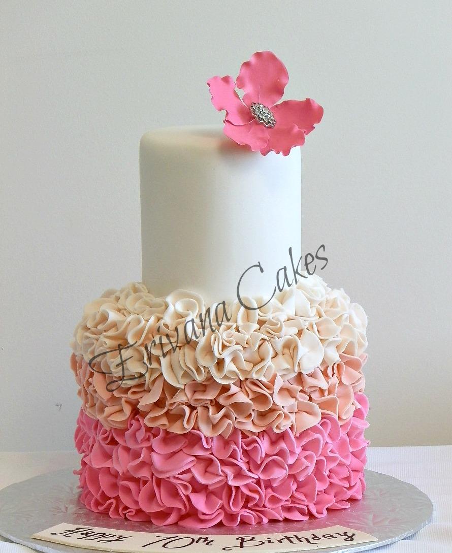 Ruffle Cake Design